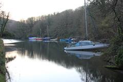 IMG_1311 (Skytint) Tags: england cornwall moorings boats hightide percuil
