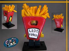 Fried Guy - Lego Custom (-iacopo / Minifigures / Custom-) Tags: potato food fried guy lego minifig imc customminifig custom iacopo italy italia patata fritto 2016 2017 red pizza new series