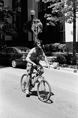 What Would Jesus Ride? (TnOlyShooter) Tags: streetphotography nashville tennessee downtown bike cyclist bicycle jesus olympusom1 olympusomzuiko50mmf18 kodaktrix400 findlab film analog