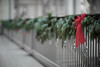 Happy Holidays (Fret Spider) Tags: institute artinstituteofchicago sonya7ii canonfd85mmf12sscaspherical bokeh bokehdelicious vintage classic old outoffocus oof blur chicago downtown michiganavenue museum gallery art exhibit beauty rail holiday christmas wreath ribbon cheer winter snow greathall