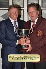 009-Derek Baxter & 'Invisible' Mark Cottingham-Challenge Cup Nicklaus 4BBB Winners (Neville Wootton Photography) Tags: 2016golfseason andrewcorfield challengecupnicklaus4bbb derekbaxter golfsectionmens invisiblepeople markcottingham presentationnights stmelliongolfclub winners saltash england unitedkingdom
