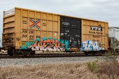 (o texano) Tags: texas graffiti trains freights benching bench ich ichabod yme circlet week