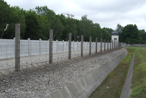 Fencing of the Dachau concentration camp, 06.07.2012.