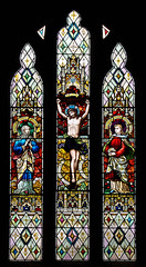 St Peter Rous Lench - West Window - Crucifixion (David Cronin) Tags: rouslench worcestershire peter saintpeter stained glass stainedglass crucifixion