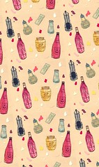 Condiments (minniemorrisart) Tags: sauces sauce ketchup mayo bbq mustard pattern illustration artwork art drawing artist cute design fashion diner textile arty food