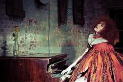 Song bird (The Green Album) Tags: kimd nationaltheatre feathers ruffled song music piano musician editorial choker stylist hair makeup production missaniela mcmotors davidnoble gracegray minnaattala natachamarro dellareed woman model beauty red cape bodice