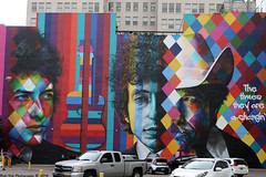 Bob Dylan in downtown Minneapolis (Rick & Bart) Tags: mural art streetart eduarokobra bobdylan minneapolis mpls city twincities minnesota urban rickvink rickbart canon eos70d graffiti thetimestheyareachangin