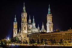 Zaragoza (abstreich) Tags: basilica nuestra senora del pilar zaragoza saragossa spanien spain night illuminated