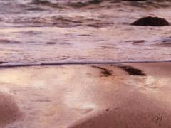 ; (nereacereza) Tags: playa mar arena rocas rojo atardecer agua cantabria liencres turismo fotografa escerezan