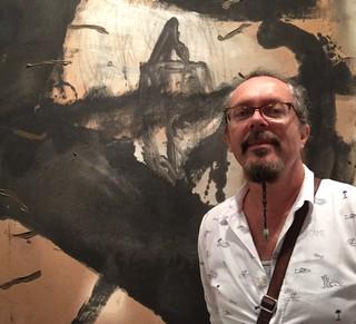 Renowned Cuban artist Jose Bedia seen at art Miami