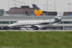 OE-GCG - 2003 build Cessna 560XL Citation Excel, arriving on Runway 23R at Manchester (egcc) Tags: 5605316 bizjet ce560xl cessna cessna560xl citation dcwww egcc excel gdk goldeckflug lightroom man manchester ringway oegcg