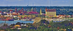 View of historical downtown St. Augustine, Florida, USA /  The Nation's oldest city (Jorge Marco Molina) Tags: staugustine florida sunshinestate historical downtown skyline centralbusinessdistrict panoramic northflorida urban density cityscape city commercialproperty