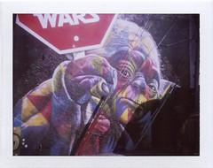 Stop Wars (scrapenbaker) Tags: miami usa florida polaroid landcamera fuji fp 100c fujifilm 104 instant graffiti yoda star wars stop wynwood