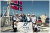 Bow Balearia (Rhannel Alaba) Tags: sea nikon day norwegian crew bow years 100 celebrates indepedence d90 balearia pido alaba odfjell rhannel