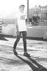 Jesus. (Field of Fireflies) Tags: white black guy sol vintage spain model sunny modelo flare tenerife chico bnw vsco