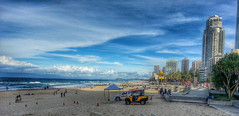 Winter's afternoon on Surfers Paradise beach (Aussie~mobs) Tags: ocean seascape beach swimming surfersparadise goldcoast