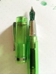 Monteverde Artista Crystal Green Demonstrator (mishka5050) Tags: green fountain pen ink crystal monteverde salvage nib artista lierre n16 sauvage rhodia demonstrator jherbin dotpad