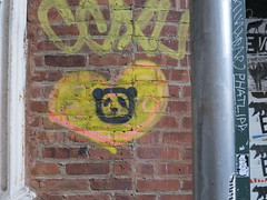 IMG_5275 (Mud Boy) Tags: nyc streetart newyork graffiti stencil panda heart manhattan soho