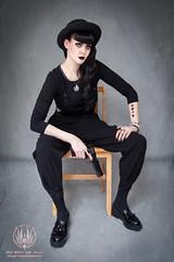 Guns N' Fashion - Gothic Fashion x M1911 (saroston) Tags: fashion project chair sitting gothic n 45 weapon pistol guns 1911 gothica m1911
