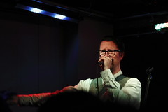 Mr B at Aether & Echo (0467b) (avalard) Tags: club gig livemusic belfast northernireland countyantrim 2014 banjolele mrb soloartist cathedralquarter belfastcitycentre mrbthegentlemanrhymer chaphop gentlemanrhymer aetherecho