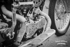 Old School Bling (Robert m Williams) Tags: ontario canada film bike 35mm vintage time engine objects transportation harleydavidson motorcycle fridaythe13th portdover ilfordxp2super400 norfolkcounty minoltastsi menacustom