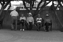 different strokes.. (camelot98.) Tags: street leica city travel blackandwhite bw men monochrome mexico candid streetphotography mexican sanmigueldeallende m9