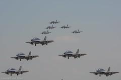 Frecce Tricolori takeoff routine, RIAT (Mark_Aviation) Tags: italien tattoo airplane team display aircraft air airshow takeoff frecce tricolori riat