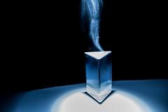 The secret object - L'Oggetto Segreto (MattiaMc) Tags: blue light abstract art night reflex amazing nikon blu object prism surreal science future mystical curious twister tornado astratto item photoart notte trasparente luce fantastico polyhedron poliedro prisma imola d60 trasparent vortice mistico oggetto nikond60 coloreffects