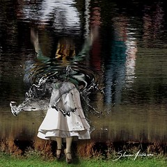 If there were a place from where to be born... (Silvia Andreasi (Images Beyond Mirror)) Tags: woman reflection art water photomanipulation whimsy underwater legs surrealism surreal skirt fantasy forgotten squareformat ethereal mystical splash submerged mystic whimsical dreamscape conceptualphotography whimsicalphotography imagesbeyondmirror silviaandreasi