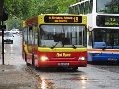 Red Rose Dennis Dart SLF Plaxton Y845TGH in Milton Keynes (Mark Bowerbank) Tags: red rose milton keynes dennis dart slf plaxton y845tgh