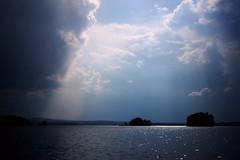 Changing weather (*Kicki*) Tags: a850 lake åmänningen ängelsberg sweden sky clouds bergslagen weather explore flickrexplore explored cloud