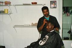 Philadelphia African American Men's hair stylist 1994 002 (photographer695) Tags: philadelphia pa usa african american mens hair stylist 1994