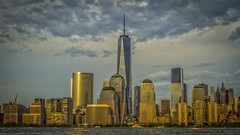 Freedom is here (That Cool Photogapher) Tags: nyc sunset sky sun ny newyork tower canon freedom downtown manhattan 7d hudsonriver wtc hudson bigapple wallst freedomtower canon7d thatcoolphotographer