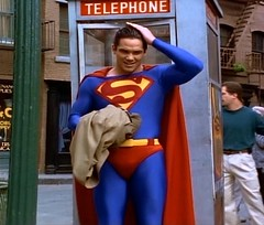 Superman (Guardian Screen Images) Tags: show new man booth comics book dc kent tv comic phone telephone dean books super tights el superman 1993 clark hero superhero 1997 series adventures tight lois spandex lycra kal the cain kalel