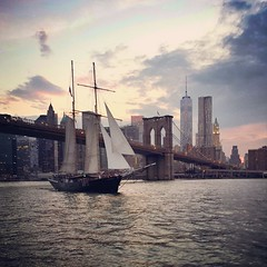 IMG_222810 (Christina Nalio) Tags: nyc skyline downtown ship manhattan worldtradecenter brooklynbridge eastriver wtc tallship freedomtower