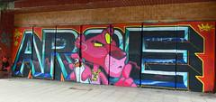 Aroe MSK (cocabeenslinky) Tags: uk pink england urban streetart art canon graffiti photo stencil brighton panda artist power shot photos hove united kingdom august powershot msk bling graff hiding panther ssssh aroe artiste 2014 g15 bn1 cocabeenslinky