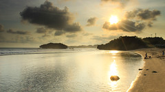Sundak Beach (HieroizmAgung) Tags: sunset sea sky sunlight beach nature indonesia landscape eos gold yogyakarta gnd