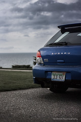 (JSFauxtaugraphy) Tags: world uk blue sea clouds project wagon michigan rally rear wheels 7 stormy r subaru carbon impreza wrx ti lowered v2 exhaust jdm hks meaty spats petosky wrb tenzo pcean stanced