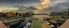 Waiting For The Hurricane (EmeraldImaging) Tags: bridge clouds sunrise harbour sydney quay nsw coathanger circular sydneyharbour sydneyoperahouse sydneyharbourbridge ferrys thecoathanger
