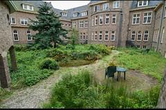 De binnentuin van de voormalige Willibrordusstichting