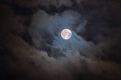 Super Moon (matt_IT) Tags: sky moon nova fog night clouds photoshop canon nuvole august super 10th trick dslr lightroom supermoon sidereo