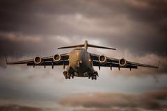 USAF McDonnell Douglas C17 (Rami Khanna-Prade) Tags: newyork germany deutschland landing c17 boeing ang rms douglas usaf allemagne etar mcdonnelldouglas airguard sumset ramstein ramsteinairbase c17a globemasteriii stewartangb newyorkairguard 105thairliftwing