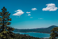 Clouds above Big Bear Lake