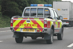 Leicestershire Fire & Rescue Service Ford Ranger General Purpose Vehicle (PFB-999) Tags: rescue ford truck fire ranger motorway general m1 leicestershire pickup vehicle and service beacons brigade unit strobes lightbar leics rotators lfrs purspose fj56tfe