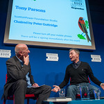 Tony Parsons on stage at the 2014 Edinburgh International Book Festival