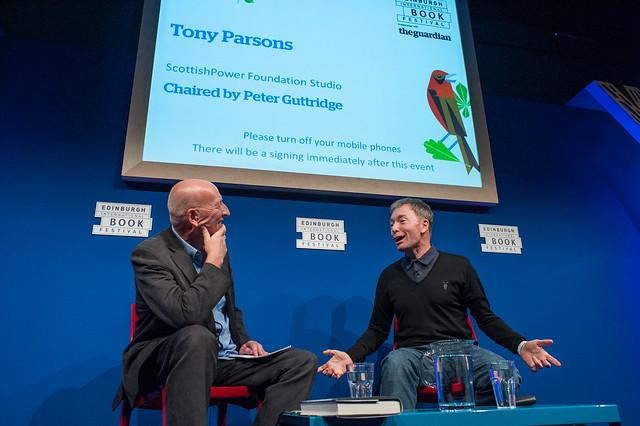 Tony Parsons on stage at the 2014 Edinburgh International Book Festival