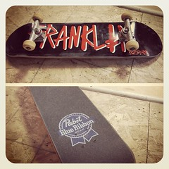 "My new ride... Franklin skateshop deck and some PBR Mob Grip. Thanks @jeffthemidget!! Love it! • <a style=""font-size:0.8em;"" href=""http://www.flickr.com/photos/99295536@N00/14957260936/"" target=""_blank"">View on Flickr</a>"