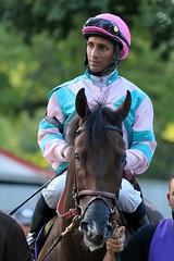 Day Six and Rajiv Maragh (kimpossible pics) Tags: horse newyork racetrack saratoga saratogasprings jockey horseracing racehorse thoroughbred equine paddock daysix saratogaracetrack rajivmaragh