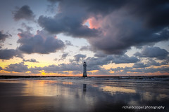 Perch Rock (*Richard Cooper *) Tags: new uk sunset lighthouse rock brighton perch wallasey wirral