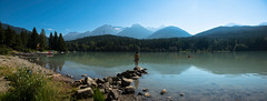 Lake Life (P.A.B.) Tags: trees summer sun lake canada mountains beach girl swimming whistler rocks britishcolumbia glacier greenlake coastmountains garibaldiprovincialpark wedgemountain pacificranges armchairglacier rejectedphotos nikond800e nikonnikkor2470mmf28afsged
